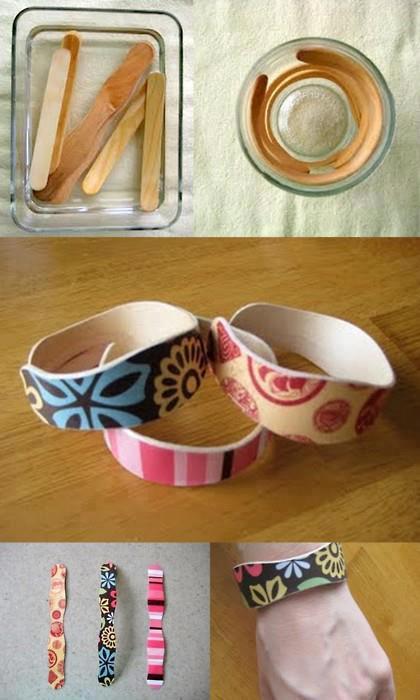 Como hacer pulseras con palitos