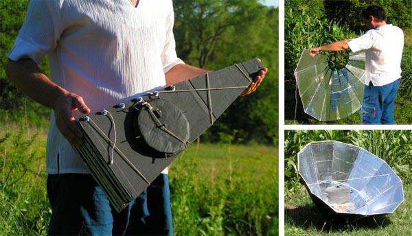 cocina solar parabolica casera