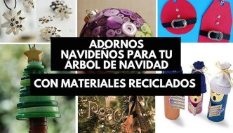 19 Adornos navideños reciclados para tu árbol de navidad