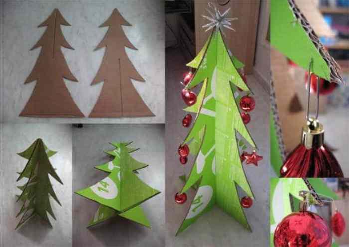 arbol de navidad con carton