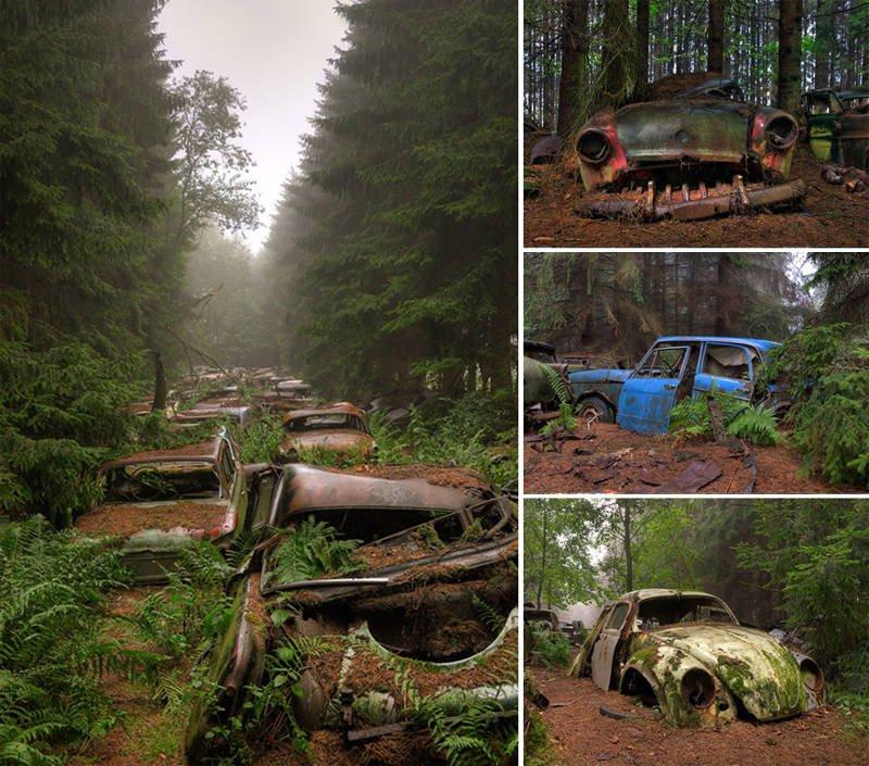 Cementerio de automóviles antiguos