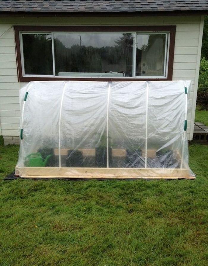Como hacer un invernadero de cama elevada en nuestro jard n - Invernadero para casa ...