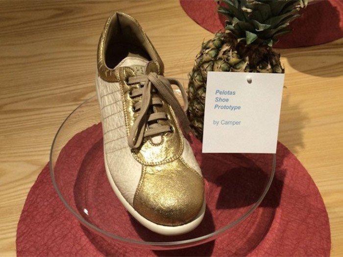 chaussures en cuir faite avec des légumes Piñatex