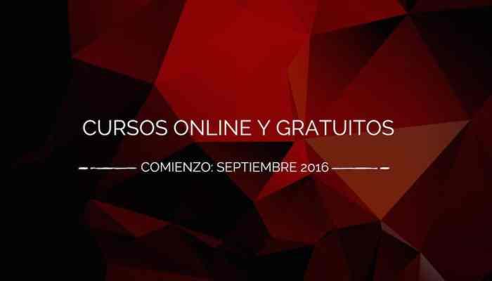 Cursos gratis y online que empiezan en septiembre