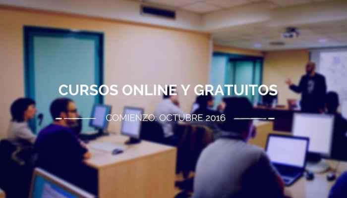 Cursos gratuitos online que comienzan en octubre