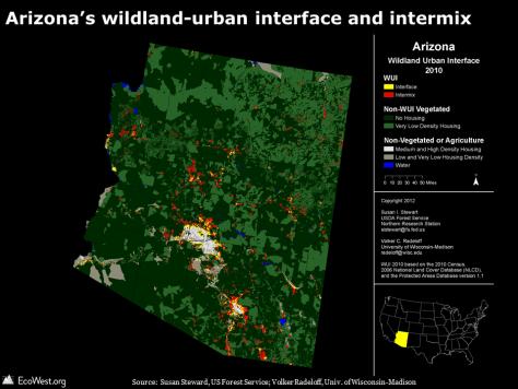 Arizona WUI map
