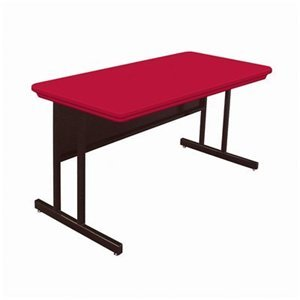 Picture of Comfortable Correll Rws3072-23 Blow-Molded Plastic Top Computer and Training Tables - Desk Height Work Station - Grey Granite (B003XUS69Q) (Computer Desks)