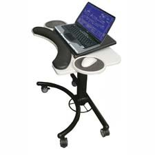 Picture of Comfortable Balt- Inc. BLT89829 Adjustable Laptop Stand- w- Mouse Holder- 28in.x18in.x20-30in.- Gray (B004QDMFZ0) (Laptop Stands)