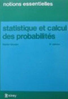 Livres Couvertures de Statistique et calcul des probabilités