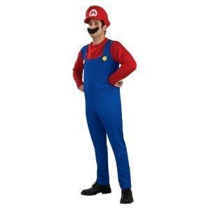 あんたも今日からスーパーマリオ!! マリオ コスプレ衣装 Tシャツ/パンツ/帽子/髭