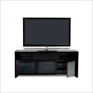 Image of BDI Casata Wood Flat Panel/Plasma TV Stand in Black Stained Oak (2823B)