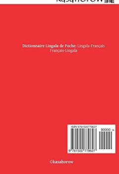 Livres Couvertures de Dictionnaire Lingala de Poche: Lingala-Français, Français-Lingala