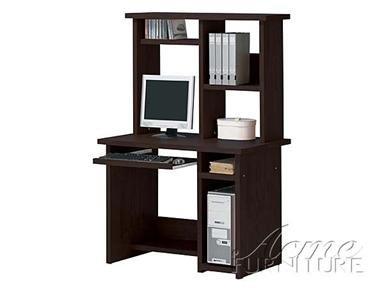 Picture of Comfortable Espresso Finish Wood Computer Desk by Acme Furniture (B005G4UFY6) (Computer Desks)