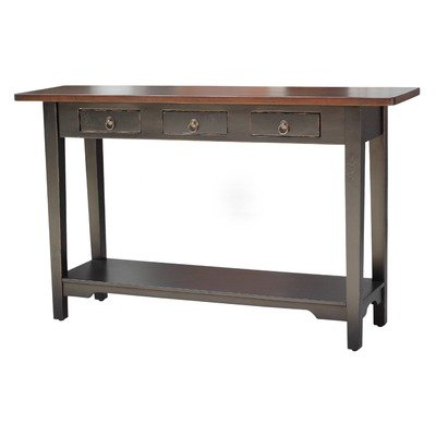Image of Colonial Console Table in Distressed Black (MAH009BLKMB)