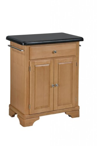 Image of Kitchen Cart with Black Granite Top in Maple Finish (VF_HY-9003-0094)