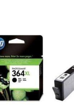 Livres Couvertures de HP 364XL Cartouche originale haut rendement pour imprimantes Deskjet 35XX, Photosmart 55XX/55XX/B111/65XX/B211/7510/C311/7520, eStation C510 Noir