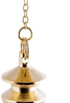 Livres Couvertures de Berk PE-1361 Pendule plaqué or en laiton avec chaîne pour radiesthésie