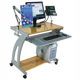 Picture of Comfortable Luxor Wood Steel Movable Computer Table,Desk/Cart (B004GGRMUA) (Computer Carts)