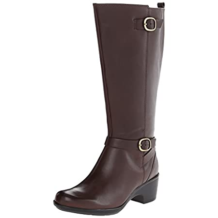 Timeless style plus modern comfort makes this tall boot from the Clarks Collection a standout. Crafted of rich leather, it features an OrthoLite cushioned footbed, and has a wider shaft for a comfortable fit at the calf. With classic lines in rich le...