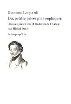 Livres Couvertures de Dix petites pièces philosophiques : Operette morali