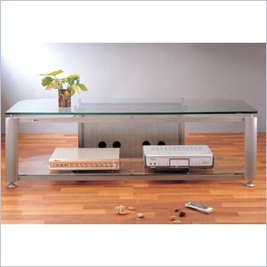 Image of Frosted VTI HGR60 DLP Plasma LCD TV Stand (HGR60)