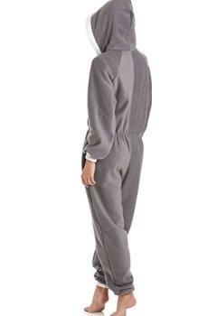 Livres Couvertures de Combinaison pyjama à capuche - polaire - gris
