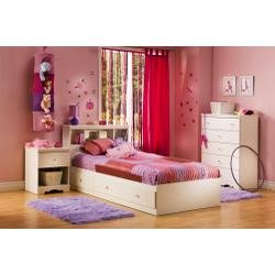 Image of Kids Bedroom Furniture Set in Pure White - South Shore Furniture - 3550-BSET-1 (3550-BSET-1)