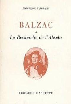 Livres Couvertures de Balzac et la Recherche de l'Absolu