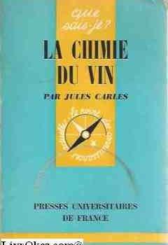 Livres Couvertures de La chimie du vin.