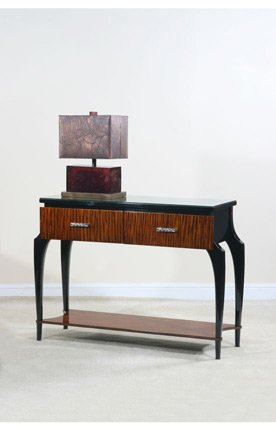 Image of Ultimate Accents Contempo Tigerwood Console Table (46688CO)
