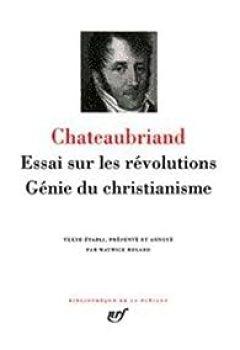 Livres Couvertures de Chateaubriand : Essai sur les révolutions - Génie du Christianisme