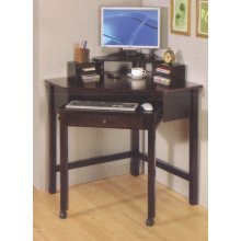 Picture of Comfortable Cappuccino Wood Corner Computer Desk - coaster 800983 (B005LWPH3W) (Computer Desks)