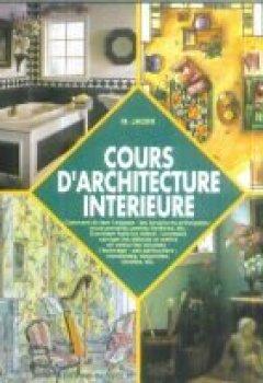Livres Couvertures de Cours d'architecture intérieure