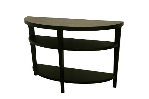 Image of Charleston Modern Black Wood Sofa Table/ Console Table (DT-805-black)