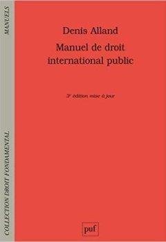 Livres Couvertures de Manuel de droit international public