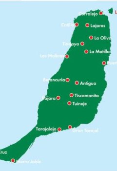 Livres Couvertures de Carte routière : Fuerteventura
