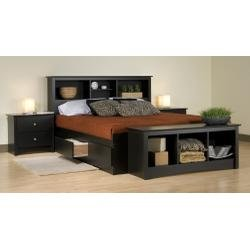 Image of Kids Bedroom Furniture Set 2 in Black - Sonoma Collection - Prepac Furniture - SNM-BSET-2 (SNM-BSET-2)