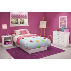 Image of Kids Bedroom Furniture Set in Pure White - South Shore Furniture - 3050-BSET-11 (3050-BSET-11)