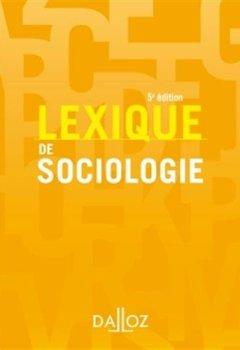 Livres Couvertures de Lexique de sociologie - 5e éd.