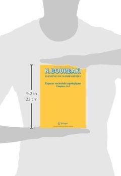 Livres Couvertures de Espaces vectoriels topologiques: Chapitres 1 a 5 (Elements De Mathematique) (French Edition)