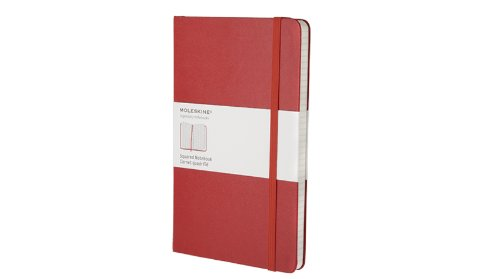Moleskine Squared Notebook Large, Hard Red (Moleskine Legendary Notebooks)