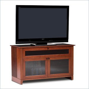 Image of BDI Novia Double-wide cabinet TV Stand in Natural Stained Cherry (8426CH)