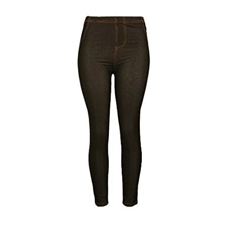 Comfortable Sexy Solid Color Stretch Legging Pant with Two Back Pockets Excellent for Everyday Use 65% Cotton 25% Polyester 10% Spandex