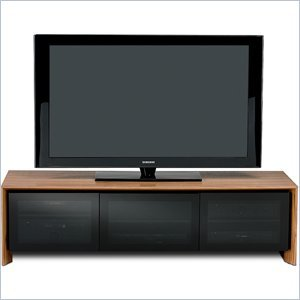 Image of BDI Casata Flat Panel or Rear Projection TV Stand in Natural Walnut (8627WL)