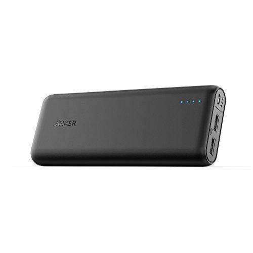 Anker PowerCore 20100 (20100mAh 2ポート 超大容量 モバイルバッテリー パナソニック製セル搭載) iPhone / iPad / Xperia / Android各種他対応 マット仕上げ トラベルポーチ付属【PowerIQ & VoltageBoost搭載】 A1271011