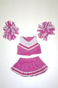 "Pink & White Cheerleader Uniform Outfit Clothing Fits 8""-10"" Most Webkinz, Shining Star and 8""-10"" Make Your Own Stuffed Animals and Build-A-Bear"