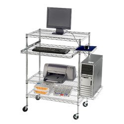 Picture of Comfortable RELIUS SOLUTIONS Mobile Wire Computer Workstations - 18x30x32