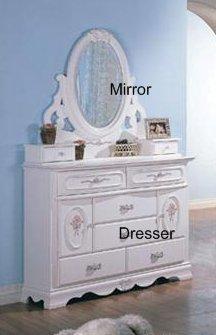 Image of Sariah Kids Dresser and Mirror - Coaster 400103 (B005LWRLI6)