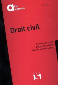 Livres Couvertures de Droit civil - 12e éd.