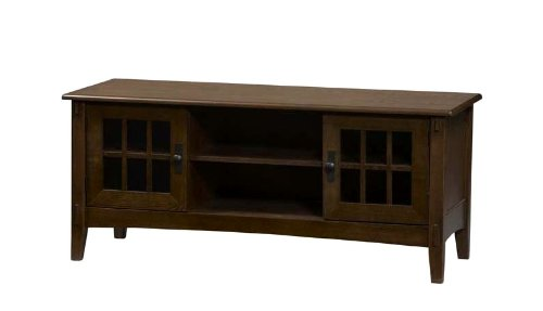 Image of Linon Mission Brown Flat Panel,Plasma,LCD TV Stand (86197C137-01-KD-U)